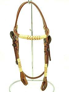 cabeçada com testeira inervo e afogador - indiana ranch 12658