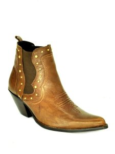 bota feminina bico fino cano curto com elástico vimar west country