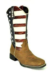 bota feminina bico quadrado cano lono usa vimar west country