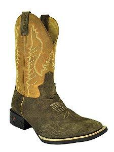 bota masculina bico quadrado hunter café fossil mostarda jácomo