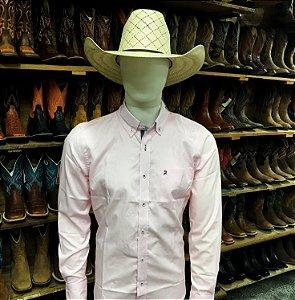 camisa manga longa custom fit rosa rendler