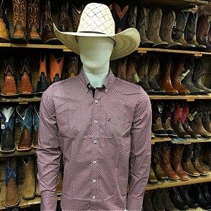 camisa manga longa custom fit estampada rendler