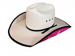 chapéu feminino estampa rosa 3579