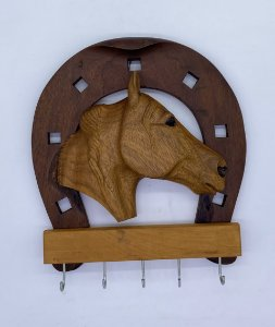 SUPORTE CHAVE LONG HORN 5 MADEIRA
