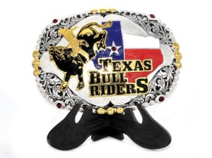 fivela texas bull riders com rubis sumetal 6460f