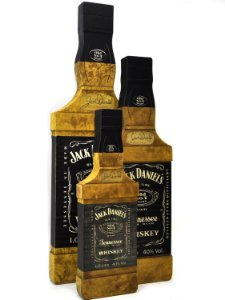 Kit Quadro Decorativo Garrafa Jack Daniel'S - 3 Peças
