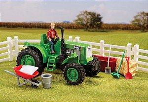 brinquedo trator da fazenda breyer
