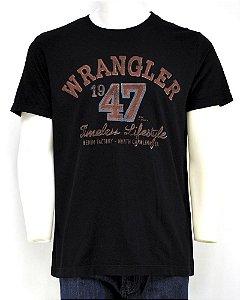 camiseta masculina wrangler preto wrangler 675.wb.98.40 p