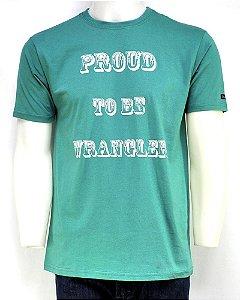 camiseta masculina verde wrangler 679.wb.5x.40