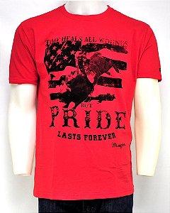 camiseta masculina original west vermelha wrangler 507.36.52.40