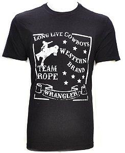 camiseta long live cowboys preta 71480p59 -  wrangler
