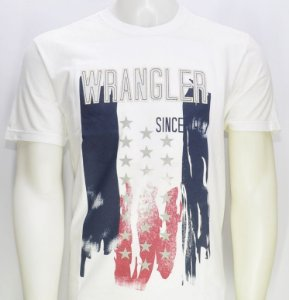 camiseta antique branca 71g13p50 - wrangler