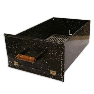gaveta de carvão esmaltada apolo mini industrial - weber