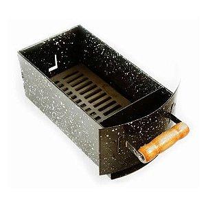 gaveta de carvão esmaltada apolo plus 7 espetos - weber