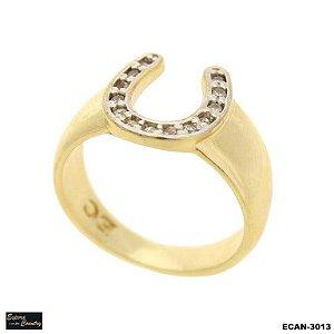 anel pedras banho 10 milésimos ouro 18k pedras zircônia