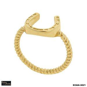 anel fino ferradura sem pedra banho 10 milésimos de ouro 18k