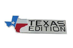 adesivo auto relevo cromado texas edition importado