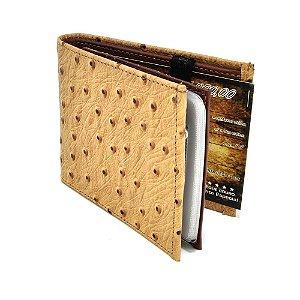 carteira couro replica avestruz - cincow