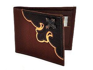carteira masculina cruz - cincow