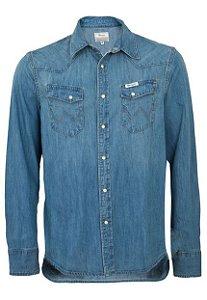 camisa jeans wash - wrangler 6961b2m