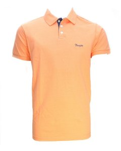 camiseta polo new laranja 7167pc5c - wrangler