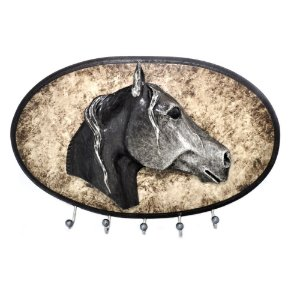Porta Chaves Cavalo Oval 5 Pinos - 3277