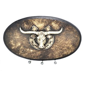 Porta Chaves Oval Long Horn 3 Pinos - 2922