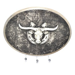 Porta Chaves Oval Long Horn 3 Pinos - 3433