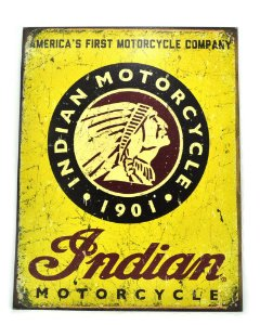 Quadro Na Lata Sem Moldura 41 X 32 Cm - Indian Motorcycle 1901