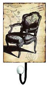 cabideiro metal 1 gancho chair oldway 25x13x7 cm
