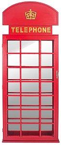 cabine telefônica com espelho oldway 200x80x12 cm