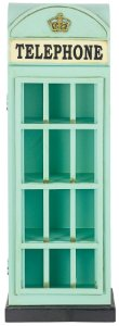 cabine telefone azul porta cd oldway 80x28x18 cm