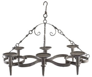 candelabro retro de teto clássico oldway 80x44x16 cm