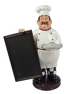 cozinheiro com bandeja e quadro negro oldway 86 x 59 x 45 cm