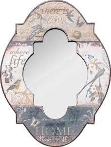 espelho love lif home passaros oldway 61 x 45 x 4cm