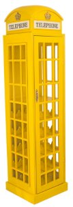 adega madeira cabine telefônica amarela oldway 171x44x44cm