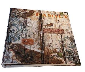 album fotos autocolante seda birdfamily oldway 34 x 34 x 3cm