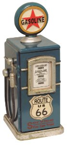 bomba de gasolina porta cd azul rota 66 oldway 50x18x18cm