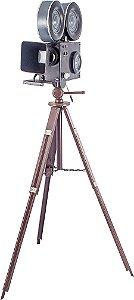 filmadora preto tripé em metal oldway 141 x 82 x 82cm