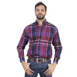 camisa xadrez george strait - wrangler x02j7174 - p