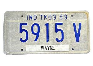 placa de carro decoração eua ind-tk 0989 5915v