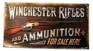 placa decoração winchester rifles and
