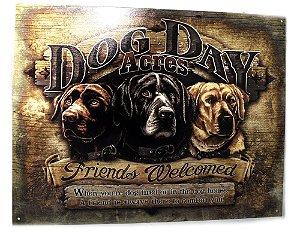 placa decoração dog day acres