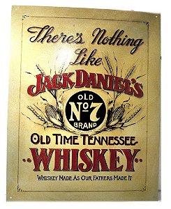 placa decoração jack daniel´s old n7