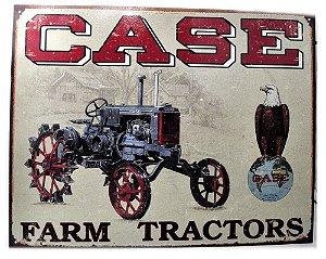 placa decoração case farm tractores