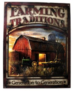 placa decoração farming traditions