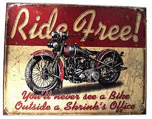placa decoração ride free