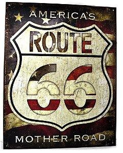 placa decoração america´s route 66