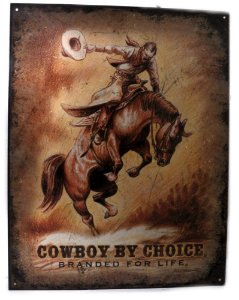 placa decoração cowboy by choice