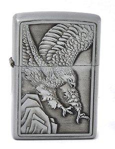 isqueiro prateado aguia - noble elegant